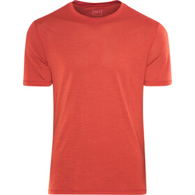 super.natural Base 140 T-shirt Herr flame red